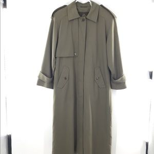 Gallery Women's Trench Coat Size 10 Length 52""